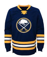 Buffalo Sabres NEW Youth Large (14/16) Crew Sweatshirt with Laces NHL Hockey NWT