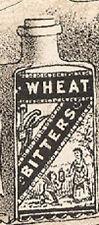 1880's WHEAT BITTERS TRADE CARD, BRAIN FOOD, FAIRIES, DOG CART, ON SALE, TC436