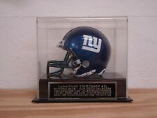 Football Mini Helmet Display Case With A LaDainian Tomlinson Chargers Nameplate