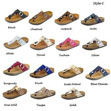 NEW Womens Summer Thong Flip Flops Birken Style Sandal Casual Slip On Shoe