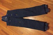 The North Face Women's L Snow Ski Suit Overalls Bib Pants Navy Blue