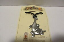 VINTAGE KANGA & ROO CLASSIC POOH DANFORTH PEWTER NECKLACE CORDED HANDCAST SIGNED
