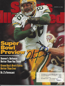 PACKERS Antonio Freeman signed Sports Illustrated magazine 1998 JSA COA AUTO SI