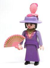 Playmobil Figure Western Saloon Molly Brown Singer Hat Fan Black Hair RARE 3787