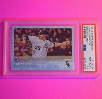 2015 Topps Update # US324 Carlos Rodon #d/99 SNOW CAMO SSP ROOKIE PSA 8.5
