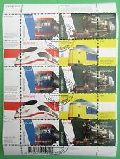 Nederland vel V 2366 - 2369 compleet vel Treinen Loc 3737 2005 mooi gestempeld