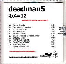 DEADMAU5 4x4+12 UK 11-trk numbered/watermarked promo test CD sealed