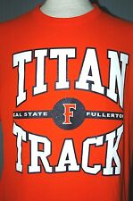 Cal State Fullerton Titans Track Adult Large Orange T-Shirt (L Run NCAA Champs)