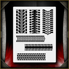 Tire Tracks Pattern Airbrush Stencil Template Paint Airsick