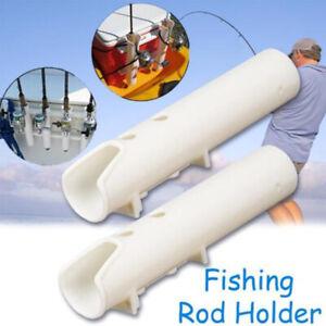 White Boat Plastic Rod Holder 2 Tube Fishing Plastic Rod Holder Rack Specially