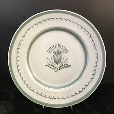 """Arabia Finland Green Thistle 10.5"""" Dinner Plate Hand Painted 68 Stamp"""
