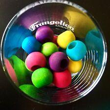 10 x 20mm Colour Round Wooden Beads 10mm hole - Pet Rabbit Parrot Bird Toy Parts