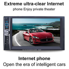 """6.6"""" Double 2DIN Car Bluetooth MP3 MP5 Handsfree Rearview Backup Player+Camera"""