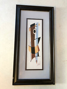 """Alfred Gockel Framed Abstract Art Print Collection """"In Blue"""" See Description"""
