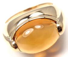 bvlgari bulgari 18k yellow gold large citrine band ring