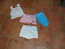 GIRLS TOP AND 3 PAIRS OF SHORTS