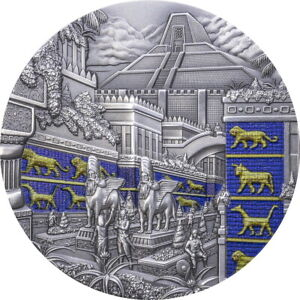 2021 Palau $10 Lost Civilizations Babylon Antiqued 2 oz Silver Coin - 555 Made
