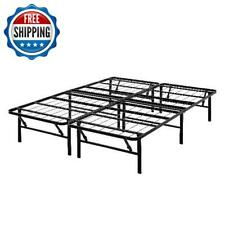 Metal Platform Bed Frame California King Size Under Bed Heavy Duty 14-Inch Black