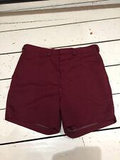 vintage mens shorts 70s maroon