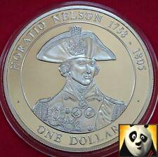 2005 Islas Cook $1 dólares Horatio Nelson historia británica .500 Moneda De Plata