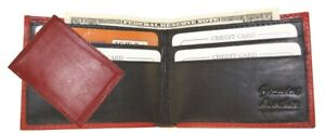 Genuine Leather Kids Small Thin Bifold Boys Mini Wallet