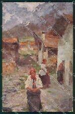 Venezia Città Esposizione d'Arte Leonardo Bazzano Cogne cartolina KF2830