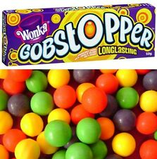 Bulk Lot 24 x Wonka Gobstopper Long Lasting 50g Willy Jawbreaker Candy Lollies