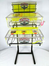 Old Trapper Steel Beef Jerky Stand Retail Store Display With Acrylic Containers
