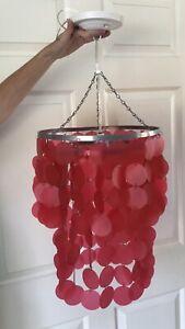 Pink Chandelier Hanging Light