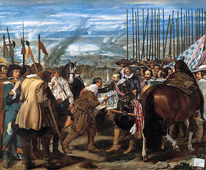 Velázquez, The Surrender of Breda, Spain Baroque Art Poster, Museum Canvas Print