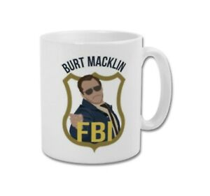 AGENT BURT MACKLIN FBI Andy Dwyer Parks and Recreation Collectable Coffee Mug