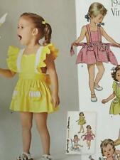 Simplicity Sewing Pattern 8099 Girls Childs Vintage Romper Skirt Size 1/2-4