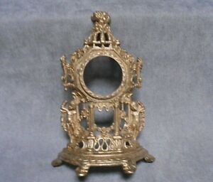 Vintage French FIGURAL gilded Mantel CLOCK CASE  w/ PUTTI
