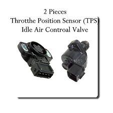 2 Pc Throttle Position Sensor & Idle Air Control Valve Fits: Mitsubishi