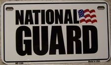 Aluminum Motorcycle License Plate Military National Guard NEW Wheelchair