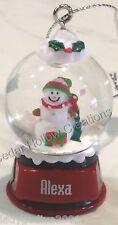 Personalized Snow Globe Ornament - Alexa - FREE Shipping