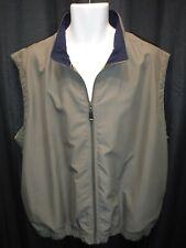 Greg Norman Full Zip Golf Vest XL Sage Green & Navy Wind