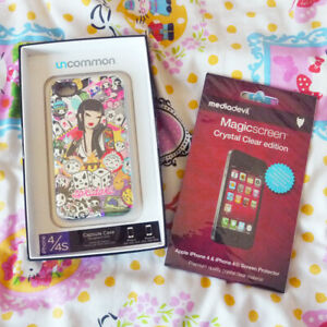 TOKIDOKI Uncommon Lucky 777 iPhone 4 4s Capsule Case Cover & Screen Protector