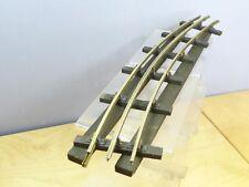 VINTAGE BASSETT LOWKE MODEL No.26  1 X  3 RAIL BRASS /WOOD SLEEPER  CURVE RAIL