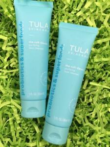 2x TULA Cult Classic Purifying Face Cleanser 1oz Ea, Travel Size - NEW,FREE SHIP