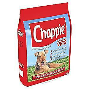 Chappie Complete Beef Dry Dog Food 15kg for adult dogs FREE NEXT DAY DELIVERY