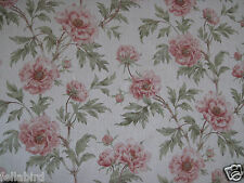"""COLEFAX AND FOWLER FABRIC DESIGN """"Tree Peony"""" 6 METRES TOMATO & OLIVE"""