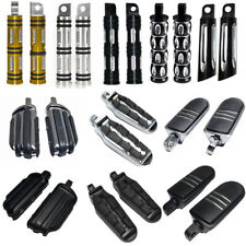 Motorcycle Chrome Black Male Mount Foot Pegs Pedals Footrest For Harley