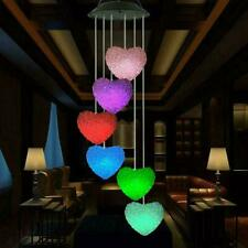 Solar Powered Color Changing LED Wind Chimes Home Garden Light Decor Lamp H3B0