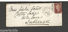 1865 Southampton cover Victorian one penny stamp