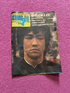Bruce Lee Kung-Fu Monthly No.76 Fold Out Poster Magazine Sheet - Martial Arts