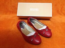 """MK """"Melody Ballet"""" Red Chili Micheal Kors Leather Shoes Size 8M NEW IN BOX!"""