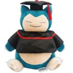 "12.5"" Pokemon Pikachu Snorlax Graduation Beanbag Plush Figure Stuffed Animal Toy"