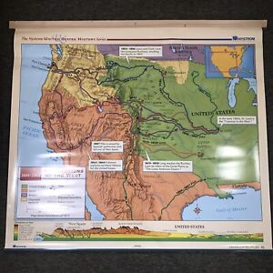 Nystrom United States History Map Herff Jones Explorations Of West School Hanger