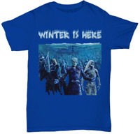 Game of Thrones Night King T-Shirt Winter Is Here White Walker Unisex Graphic T